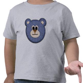 Cara del oso de peluche (muchacho) camisetas