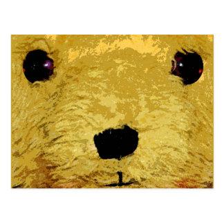 Cara del oso de peluche postal