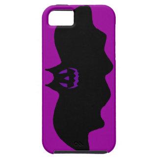Cara del palo w/Purple de Halloween iPhone 5 Fundas