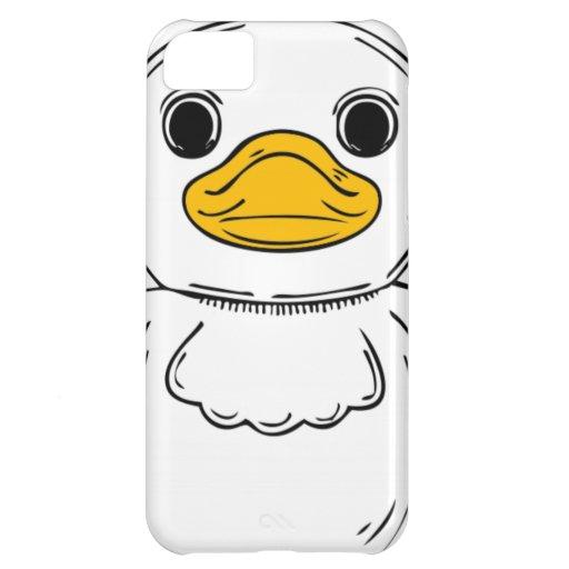 Cara del pato del dibujo animado funda para iPhone 5C