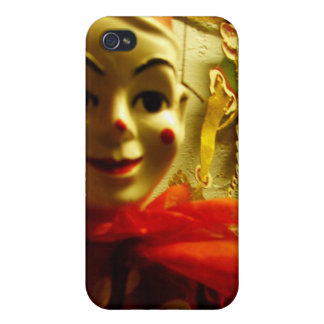 Cara del payaso iPhone 4 carcasas