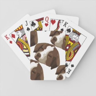 Cara del perrito cartas de póquer