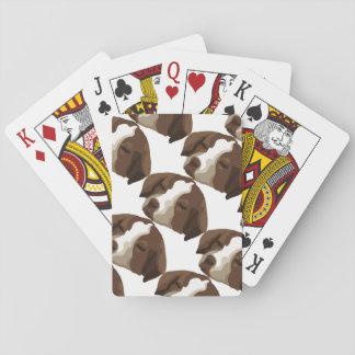 Cara del perrito baraja de póquer
