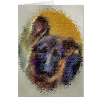 cara del perrito tarjeta de felicitación