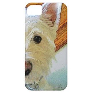 Cara del perro de Westie, mirándole iPhone 5 Carcasa