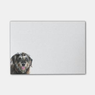 Cara del perro lanudo post-it nota