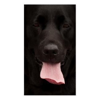 Cara del perro negro tarjeta de negocio