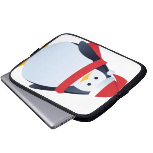 Cara del pingüino del navidad manga portátil