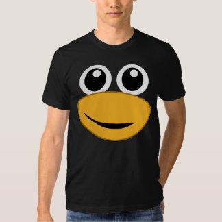 cara del pingüino del tux playera