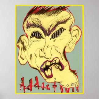 Cara del poster del apego póster