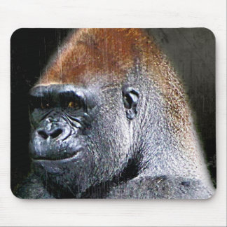 Cara del primer del gorila de la tierra baja del G Alfombrillas De Ratones