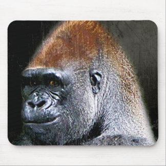 Cara del primer del gorila de la tierra baja del G Tapetes De Raton