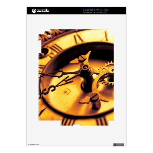 Cara del reloj de oro calcomanía para iPad 2