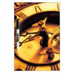 Cara del reloj de oro pizarras