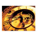 Cara del reloj de oro postal