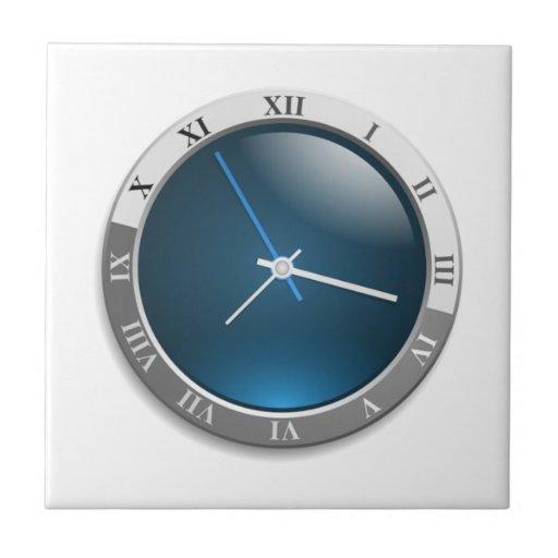 Cara del reloj del tiempo teja  ceramica