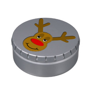 Cara del reno del navidad jarrones de dulces