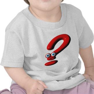 Cara del signo de interrogación camiseta