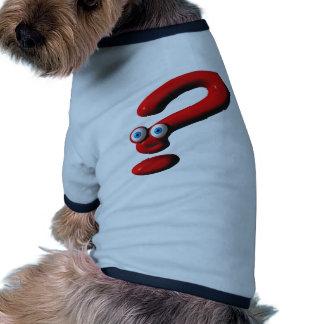 Cara del signo de interrogación ropa de perro