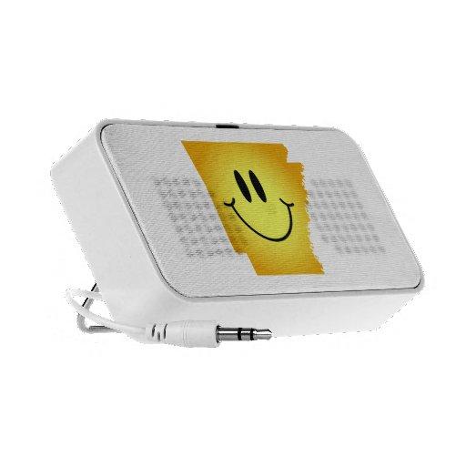 Cara del smiley de Arkansas Laptop Altavoces