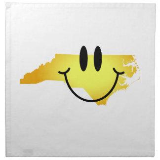 Cara del smiley de Carolina del Norte Servilletas De Papel