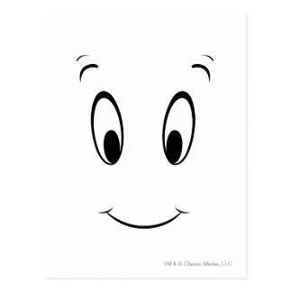 Cara del smiley de Casper Tarjeta Postal