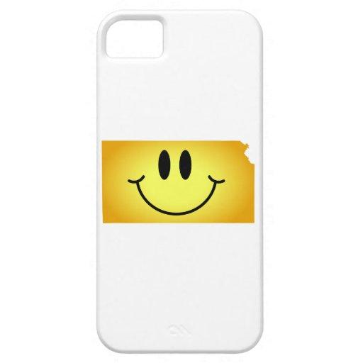 Cara del smiley de Kansas iPhone 5 Case-Mate Funda