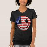 cara del smiley de la bandera camisetas