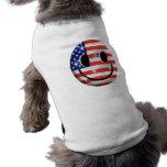 cara del smiley de la bandera prenda mascota