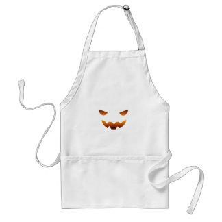 Cara del smiley de la calabaza de Halloween Delantal