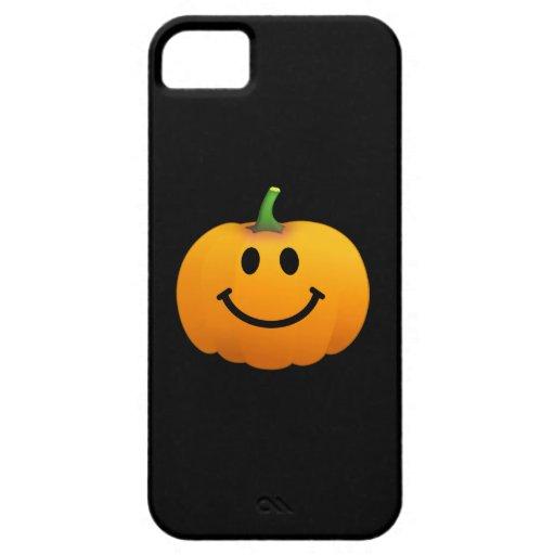 Cara del smiley de la calabaza de Halloween iPhone 5 Case-Mate Cobertura