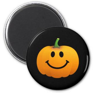 Cara del smiley de la calabaza de Halloween Imán Para Frigorifico