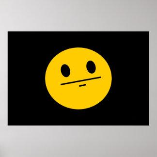 Cara del smiley de la cara de póker póster