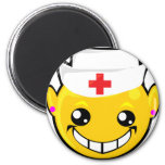 cara del smiley de la enfermera iman de frigorífico