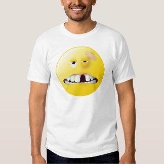 Cara del smiley de la fotografía de detenido camisas