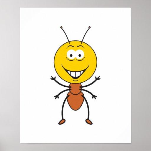 Cara del smiley de la hormiga impresiones