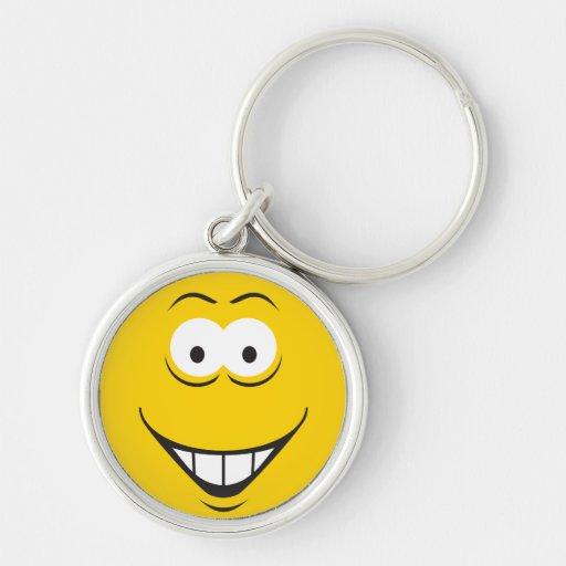 Cara del smiley de la sonrisa de los dientes llaveros personalizados