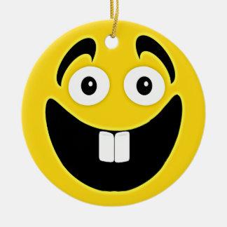 Cara del smiley de los dientes delanteros del amar ornato