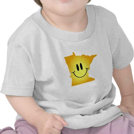 Cara del smiley de Minnesota Camisetas