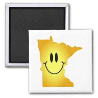 Cara del smiley de Minnesota Imanes Para Frigoríficos
