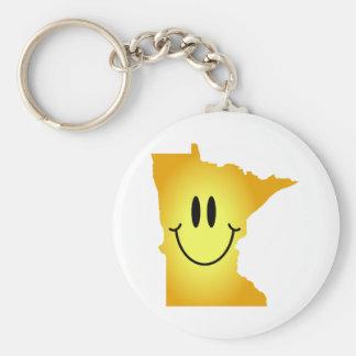 Cara del smiley de Minnesota Llavero Redondo Tipo Pin