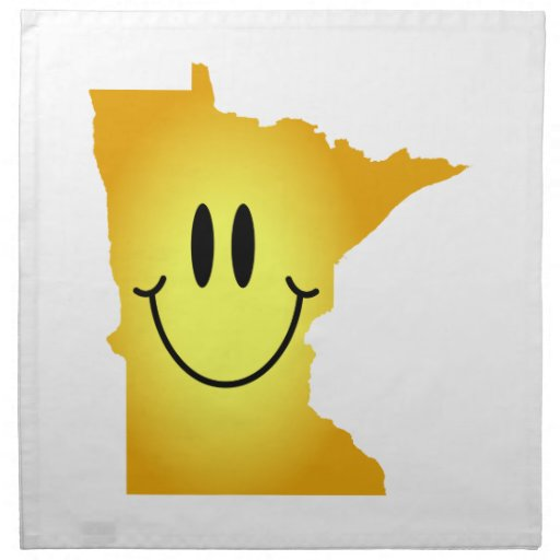 Cara del smiley de Minnesota Servilletas De Papel
