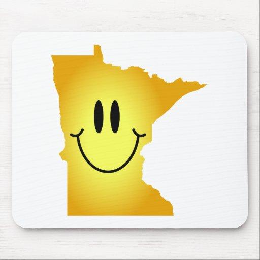 Cara del smiley de Minnesota Tapete De Raton