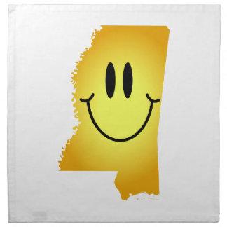Cara del smiley de Mississippi Servilleta De Papel