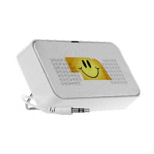 Cara del smiley de Nebraska Laptop Altavoces