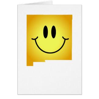 Cara del smiley de New México Felicitacion
