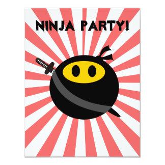 """Cara del smiley de Ninja Invitación 4.25"""" X 5.5"""""""