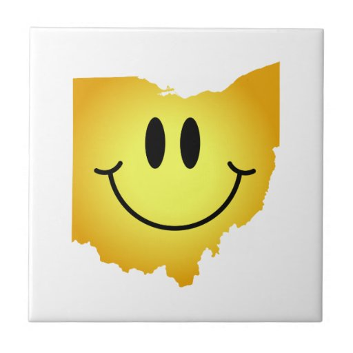Cara del smiley de Ohio Azulejos Ceramicos
