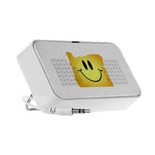 Cara del smiley de Oregon iPod Altavoz
