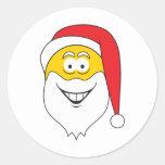 Cara del smiley de Papá Noel Etiquetas